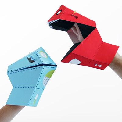 NPW Hand Puppets Robots / El Kuklasi - Robotlar W8173