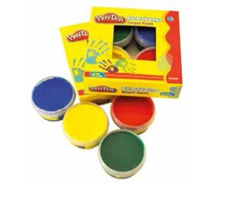 Play-Doh 4 Renk Parmak Boyası 50ml Play-Pr017