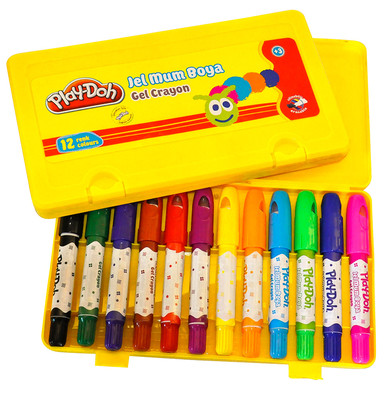 Play-Doh 12 Renk Jel Crayon Play-Cr010