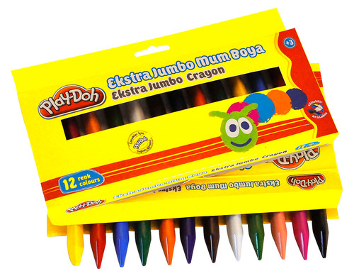 Play-Doh 12 Renk Extra Jumbo Crayon Play-Cr011