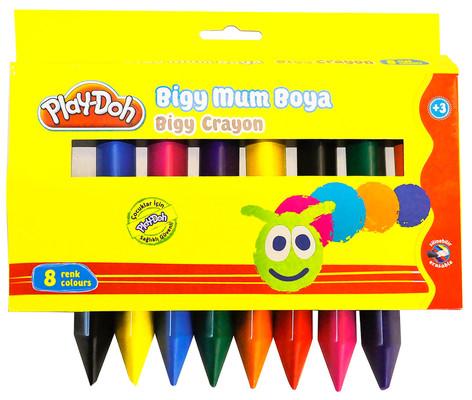 Play-Doh 8 Renk Bigy Crayon Play-Cr012