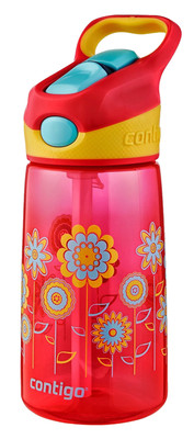 Contigo Autospout Kids Striker Water Bottles Pembe Çiçek 1000-0349