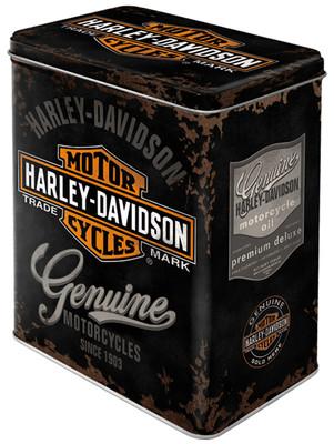 Nostalgic Art Harley Davidson Genuine Teneke Saklama Kutusu (Large) 30107