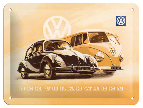 Nostalgic Art VW Beetle & Bulli Metal Kabartmali Duvar Panosu (15x20 cm) 26130