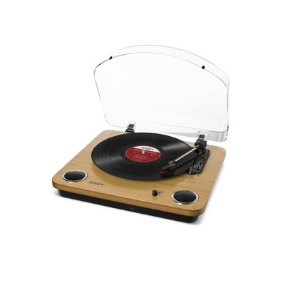 İon Audio Max LP Speakerlı Ahşap Pikap