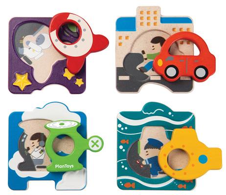 Plan Toys Araç Bulmacası (Vehicle Puzzle) 5675