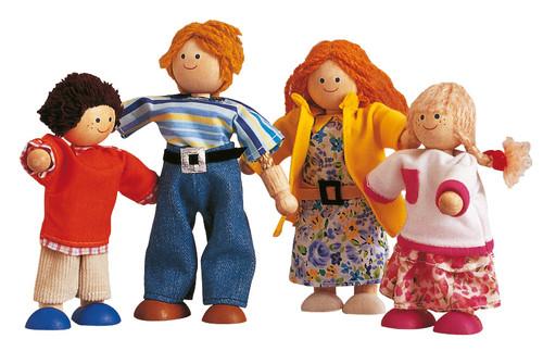 Plan Toys Modern Bebek Ailesi (Modern Doll Family) 7142