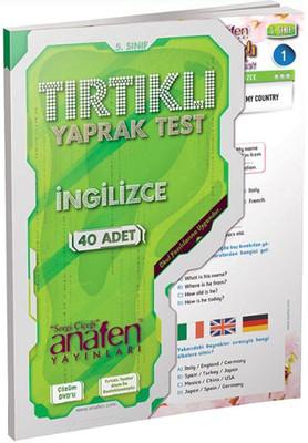 Anafen 5.Sınıf İngilizce Tırtıklı Yaprak Test 28 Yaprak Dvd Çözümlü