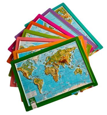 Gürbüz A4 Kabartma Dünya Atlası 26003