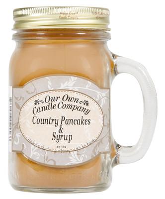 Country Pancake & Syrup Küçük Kavanoz Mum SIMM-CAP