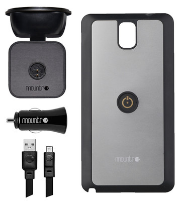 Mountr Glass Set Samsung Galaxy Note 3 Araç İçi Tutucu Silver - Sk-Scm-N3S