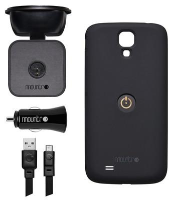 Mountr Glass Set Samsung Galaxy S4 Araç İçi Tutucu Siyah - Sk-Scm-S4B