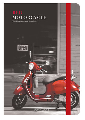 Notelook Red Motorcycle A6 Çizgisiz