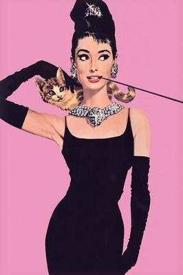 Pyramid International Maxi Poster - Audrey Hepburn - Pink