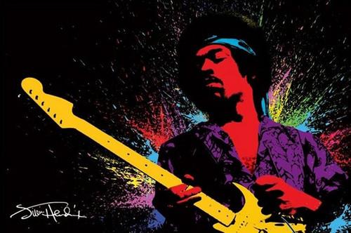 Pyramid International Maxi Poster - Jimi Hendrix - Paint