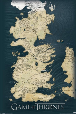 Pyramid International Maxi Poster - Game Of Thrones - Map