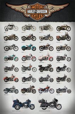 Pyramid International Maxi Poster - Harley Davidson Evolution