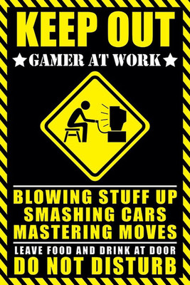 Pyramid International Maxi Poster - Gamer At Work
