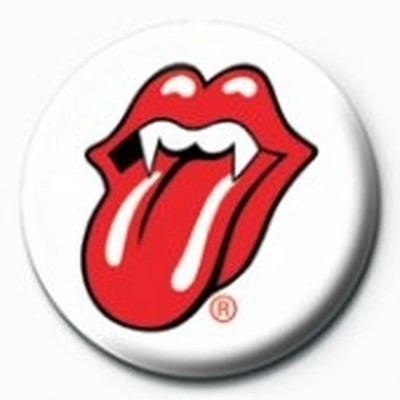 Pyramid International Rozet - Rolling Stones Lips - Fangs