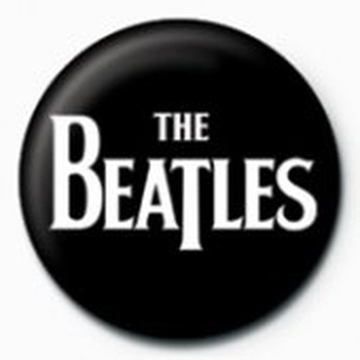 Pyramid International Rozet - The Beatles - White Logo