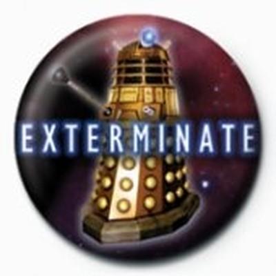 Pyramid International Rozet - Doctor Who - Exterminate Dalek
