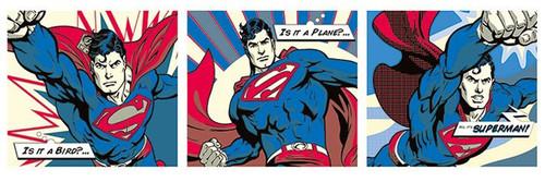 Pyramid International Kapı Posteri - Superman - Pop Art Triptych