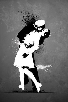 Pyramid International Maxi Poster - Warzone Kiss - Graffiti