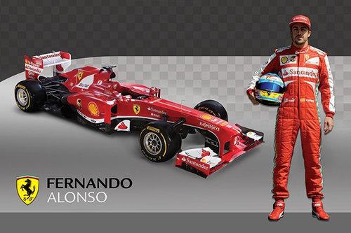 Pyramid International Maxi Poster - Ferrari Alonso & Car
