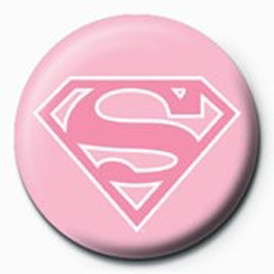 Pyramid International Rozet - Superman - Pink Logo