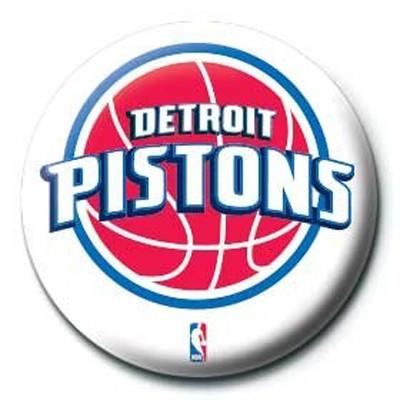 Pyramid International Rozet - NBA Detroit Pistons Logo
