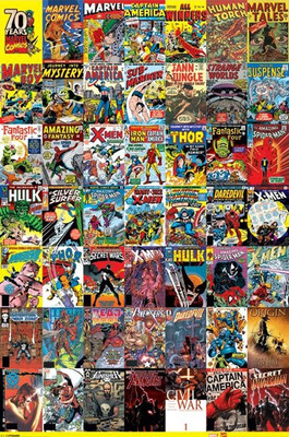 Pyramid International Maxi Poster - Marvel 70th Anniversary Covers