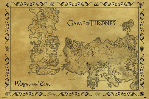 Pyramid International Maxi Poster - Game Of Thrones - Antique Map