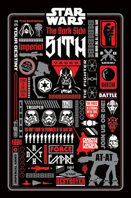 Pyramid International Maxi Poster - Star Wars Dark Side Icon Graphics