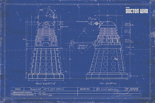 Pyramid International Maxi Poster - Doctor Who - Dalek Blueprint
