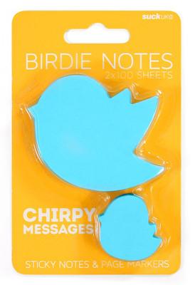 Suck Uk Bird Sticky Notes - Kuş Yapışkanlı Not Kağıdı