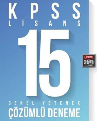 Fem Akademi KPSS Lisans 15 Genel Yetenek Çözümlü Deneme