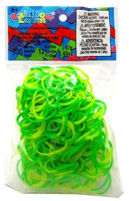 Rainbow Loom Silikon Sarı Yeşil (300lü paket) (Özel Seri) 0 5288