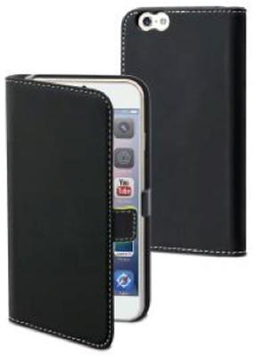 Muvit Slim Folio Kapaklı iPhone 6 Plus Kılıf ve Standı (Siyah) 23178