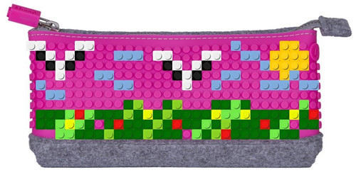 Pixel Kalem Kutsu 02 Gri / Fuşya