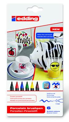 Edding Porselen K. 6Li Set- Standart Renkler (E-4200)