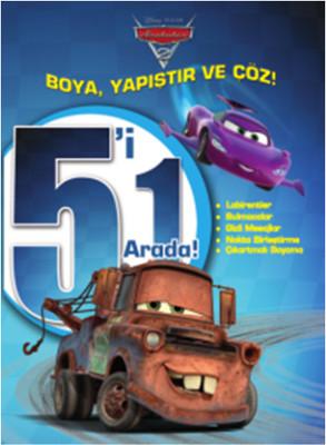 Disney Arabalar 5'i 1 Arada Boya Yapıştır Çöz