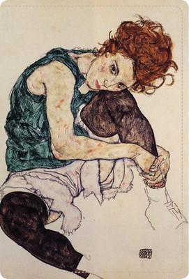 NotePad Dizlerini Kırmış Kadının Portresi NP- ES2