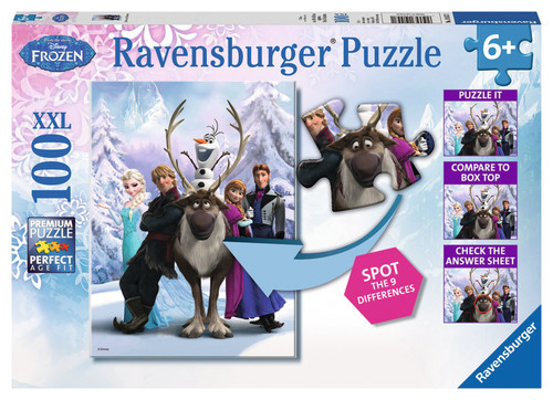 Ravensburger Wd-Frozen Difference - Super 100 Parçali RCL182909