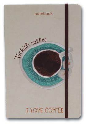 Notelook I Love Turkısh Coffee A7 Çizgili
