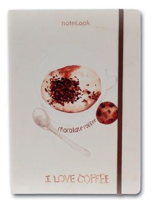 Notelook I Love Chocolate Coffee A5 Çizgisiz