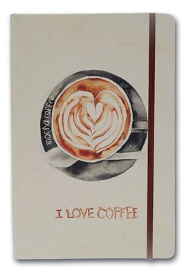 Notelook I Love Mocha Coffee A6 Çizgisiz