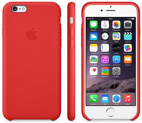 Apple iPhone 6 için Deri Kılıf - (Product) RED MGR82ZM/A
