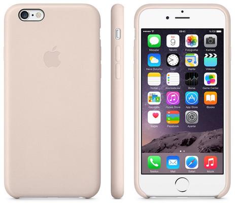 Apple iPhone 6 Plus için Deri Kılıf - Açık Pembe MGQW2ZM/A