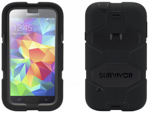 Griffin Survivor All-Terrain Samsung Galaxy S5  Kılıf - Siyah