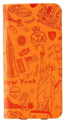 Ozaki O!coat Travel New York iPhone 6 Kılıfı (Turuncu)